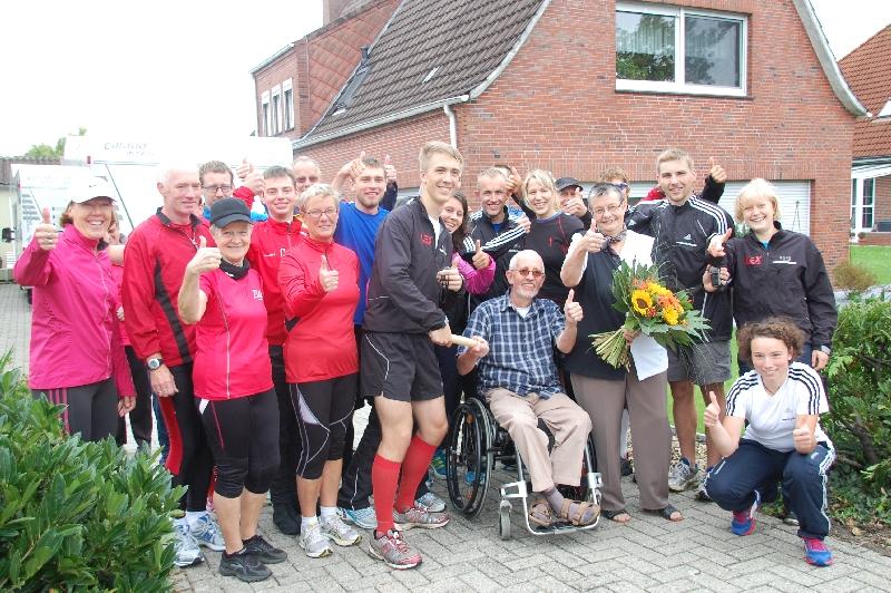 Das Laufteam bei Familie Groenewold