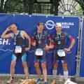 die Finisher Steffen, Eric, Manu (v.l.)