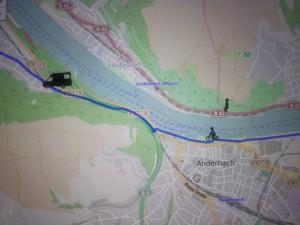 Wenn Läufer und Radbegleiter sich verlieren - Ungenauigkeit beim GPS bringt lustige Unterschiede