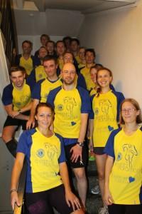 Das Team beim diesjährigen Treppenlauf im Hotel Mercure